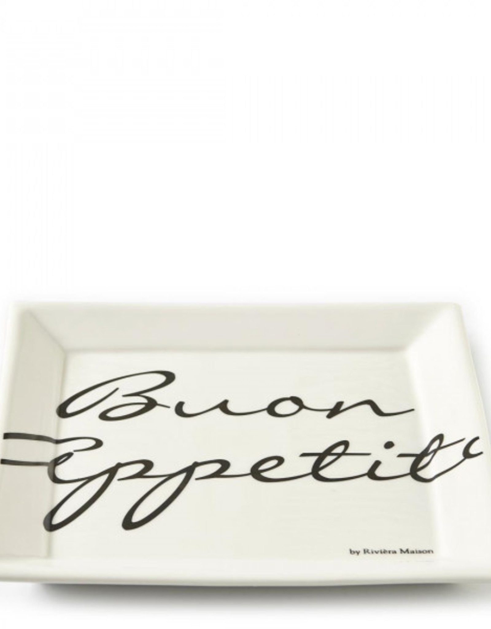 Riviera Maison Buon Appetito Square Plate  22x22