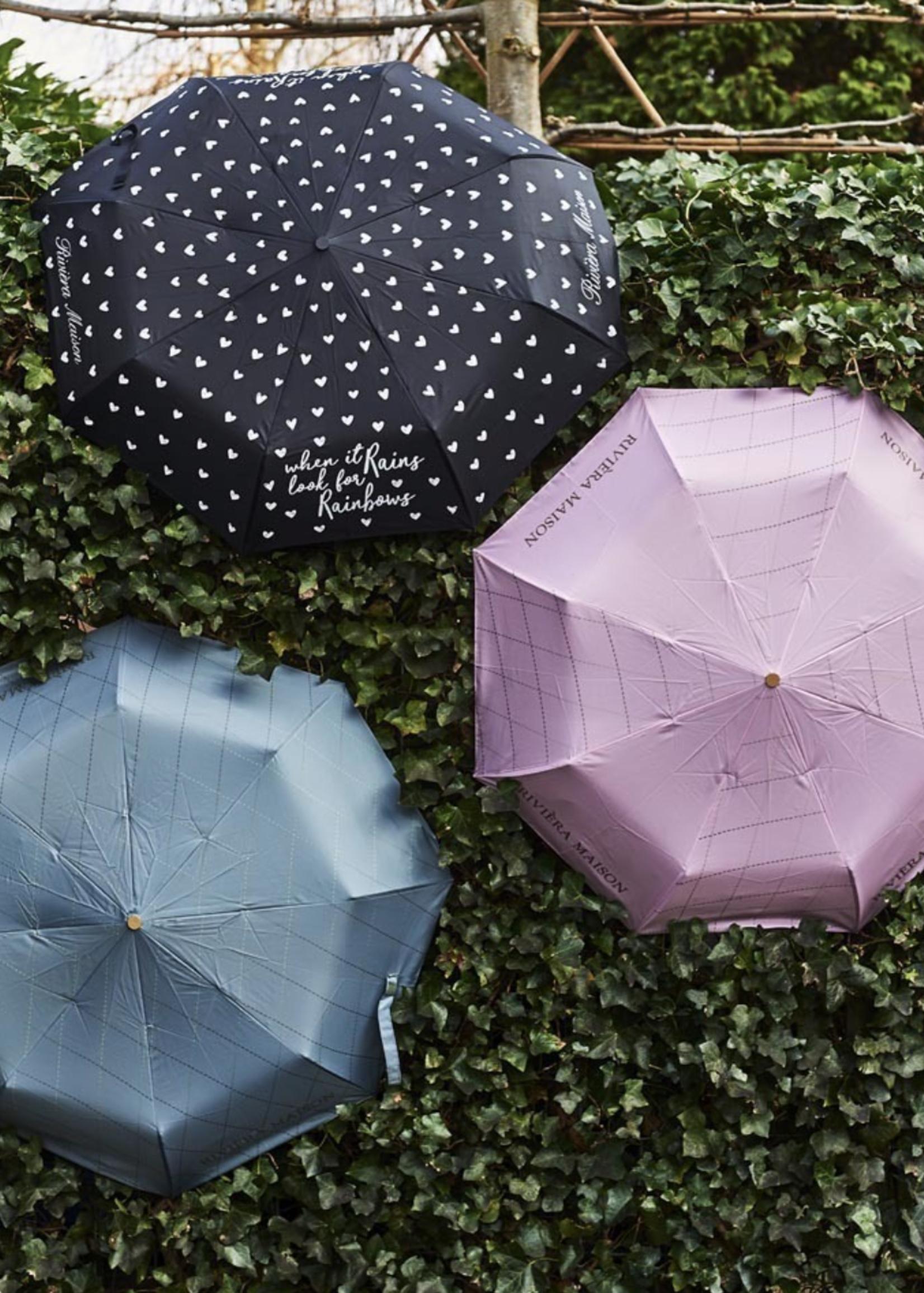 Riviera Maison Diamond Pattern Umbrella Green