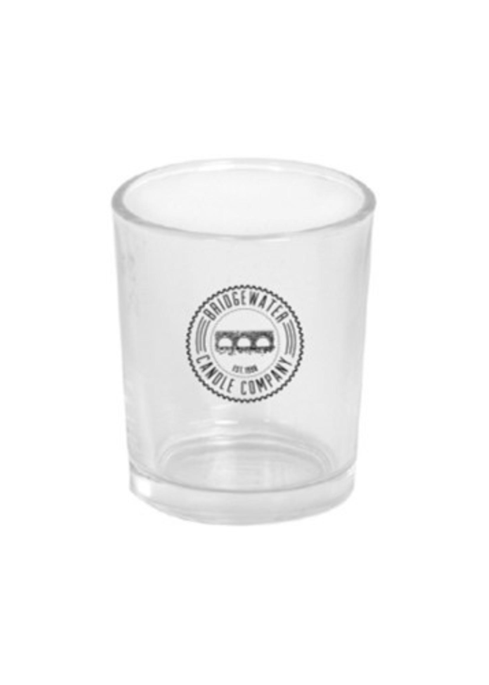 Bridgewater Votive Glass Bridgewater Logo Clear