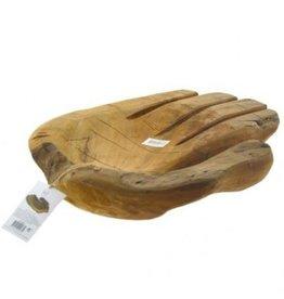 Schaal teak hout hand