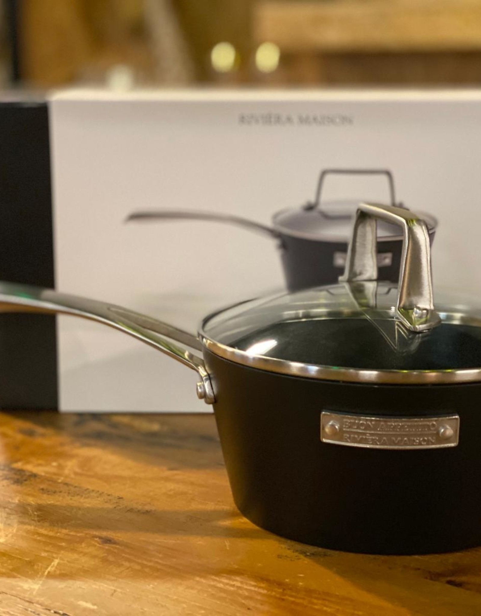 Riviera Maison Buon Appetito Sauce Pan With Lid