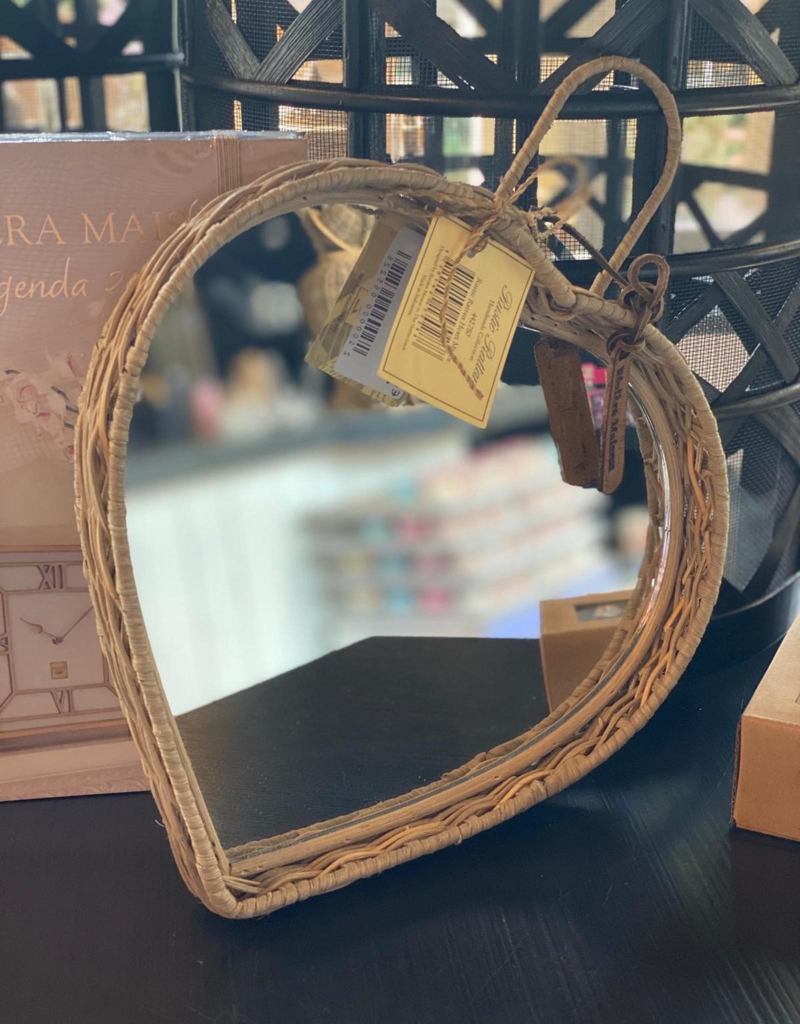 Riviera Maison Rustic Rattan Heart Mirror
