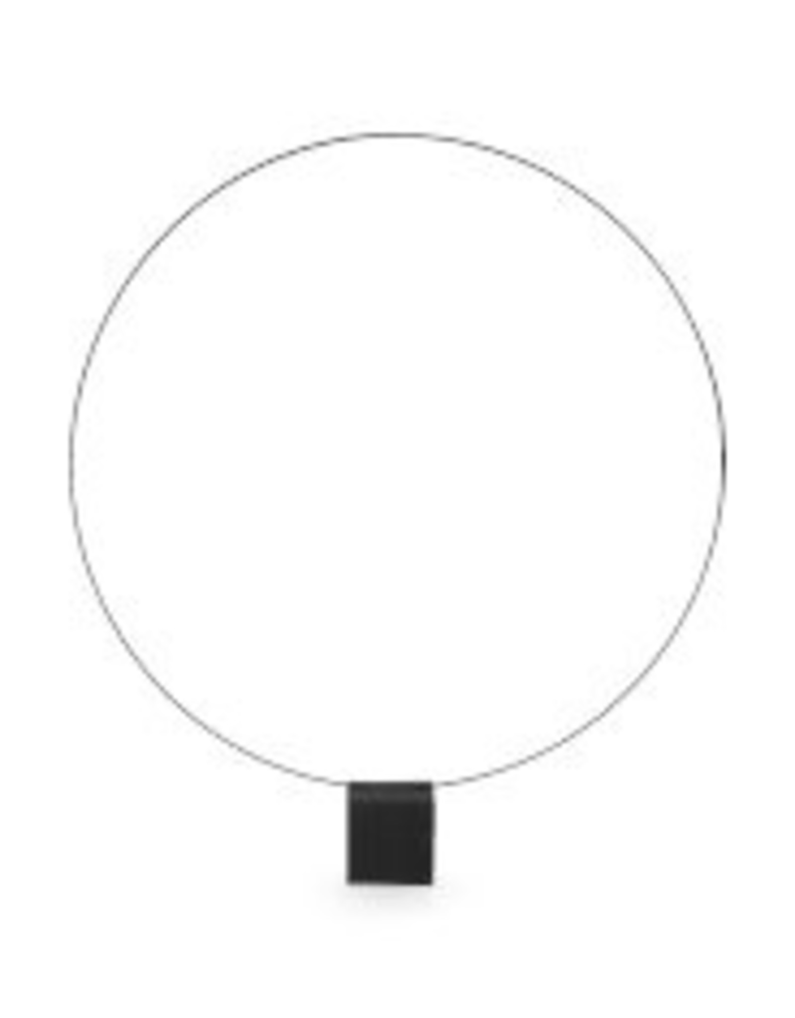 vtwonen Ornament Round on Foot Metal Black 35 x 44
