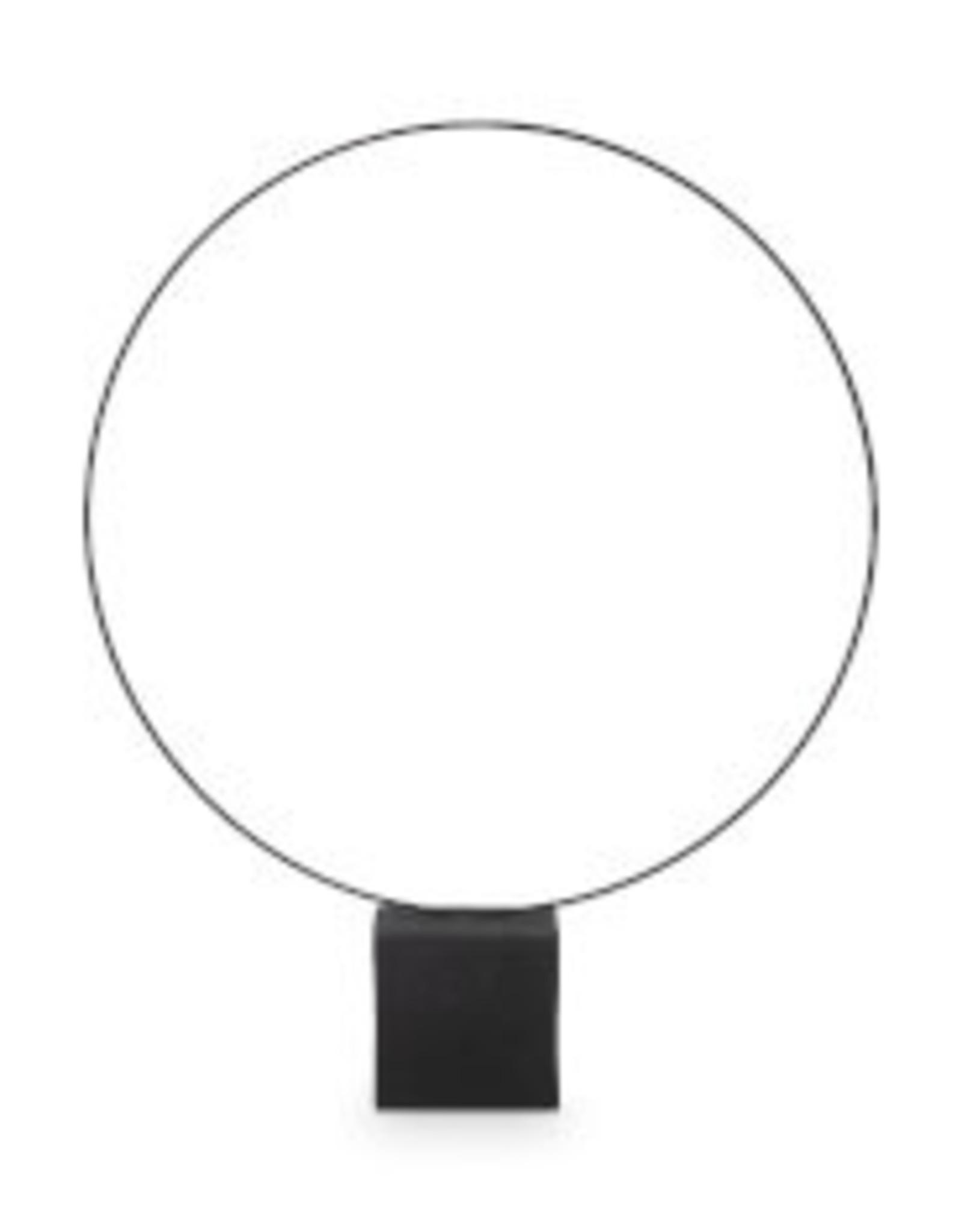 vtwonen Ornament Round on foot metal black 60 x 70