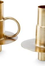 vtwonen Set/2 Bottle candle holders Metal Gold