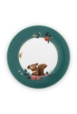 pip studio Plate winter Wonderland Squirrel Green 17 cm