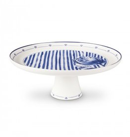 Janny van der Heijden Cake tray on stand on tulip Stripes Ornaments