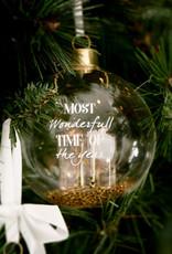 Riviera Maison Most Wonderful Time Orn. gold D 10