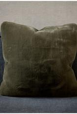 Riviera Maison Faux Fur Pillow Cover Green 50x50