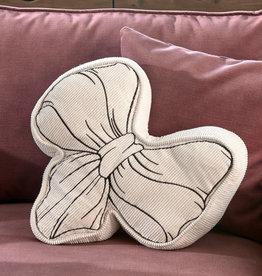 Riviera Maison Ballad Mauve Bow Pillow White