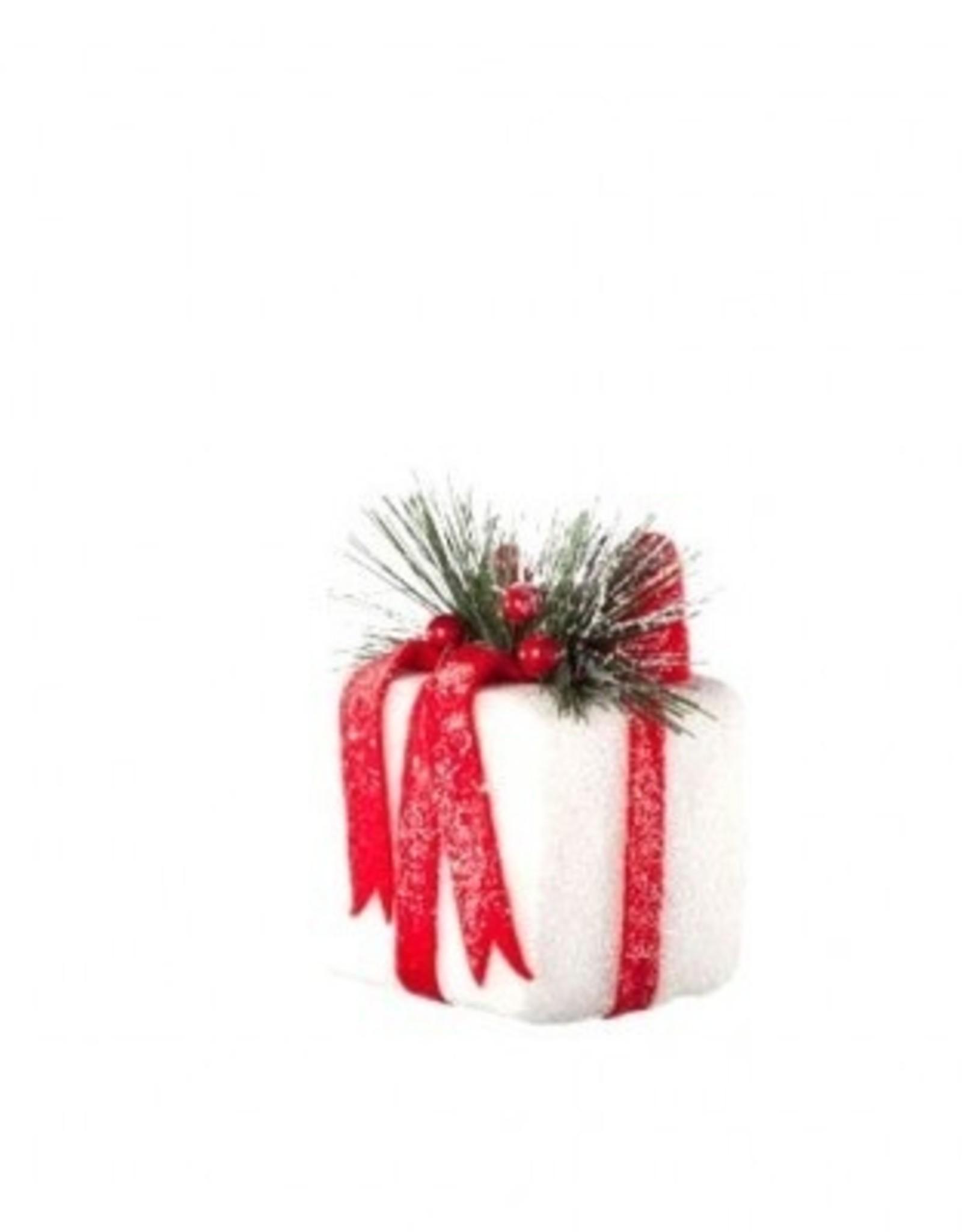 Hanger pakje rood/wit 9 cm