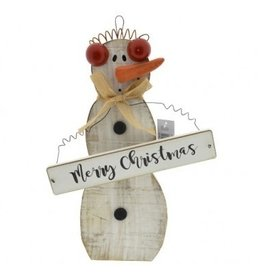 Sneeuwpop Sharran gemixte kleur hout 40 cm