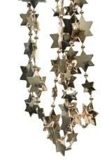 498 Kralenketting plastic ster licht goudkleurig 270 cm