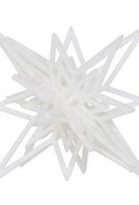 6934826 Decoratieve hanger ster 3D wit 13 cm