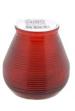 Outdoor kaars in glas rood 9 cm