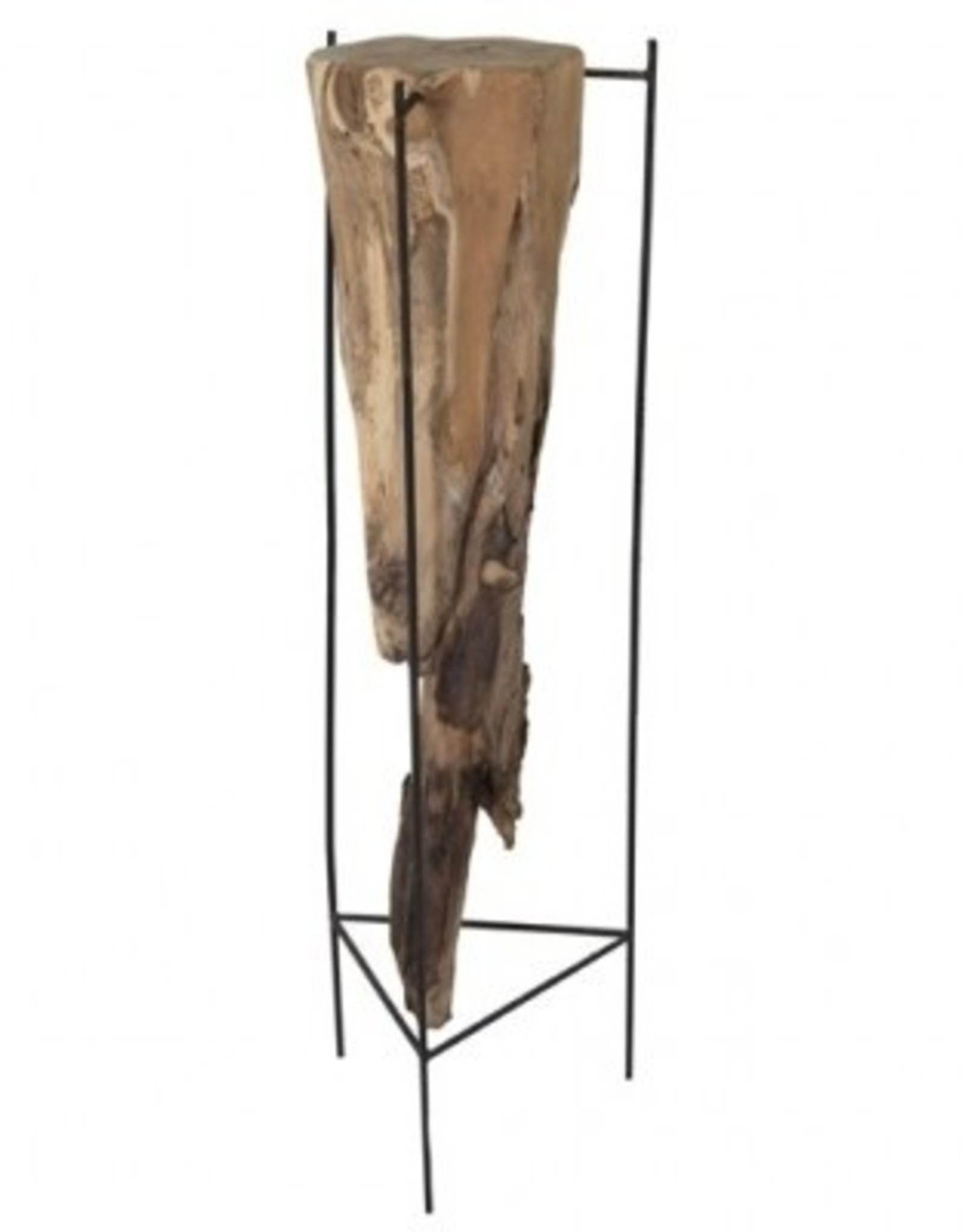 119328 Deco tafel blok hout 100 cm