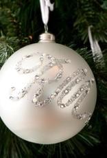 Riviera Maison Glittering RM Ornament white Dia 12