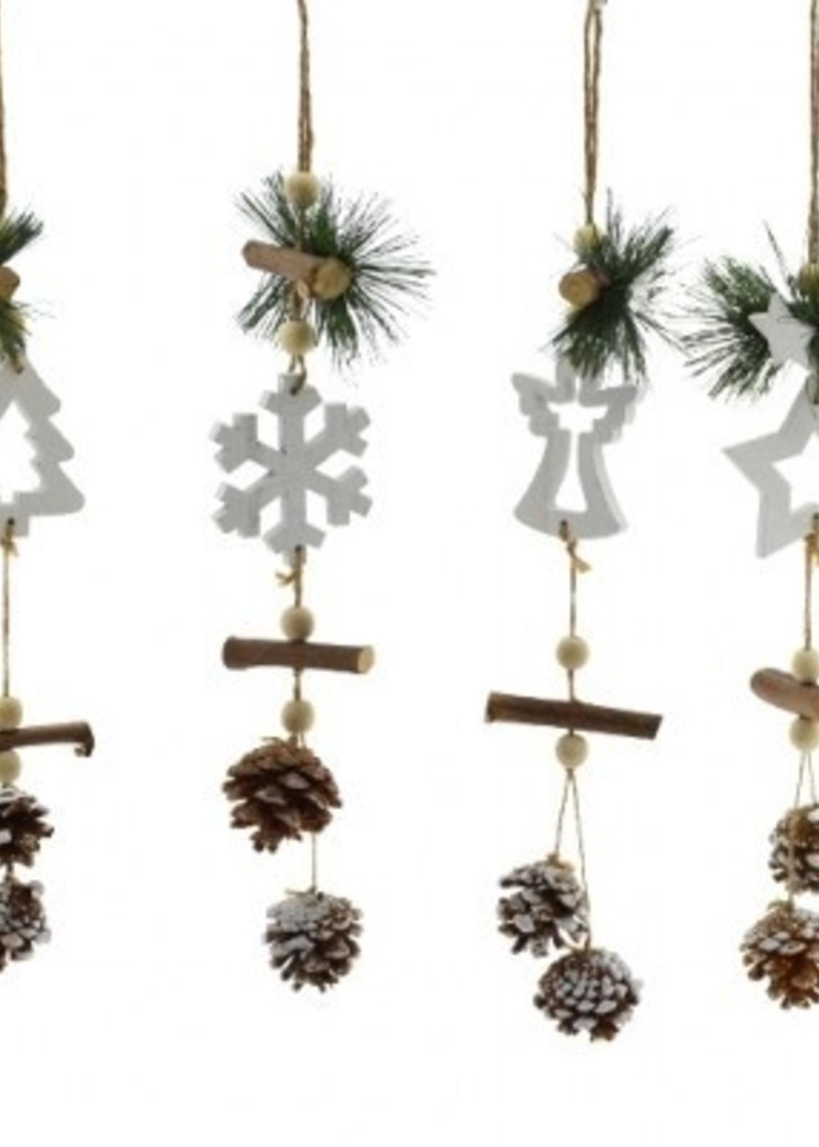 Mini kerstslinger guirlande 44 cm