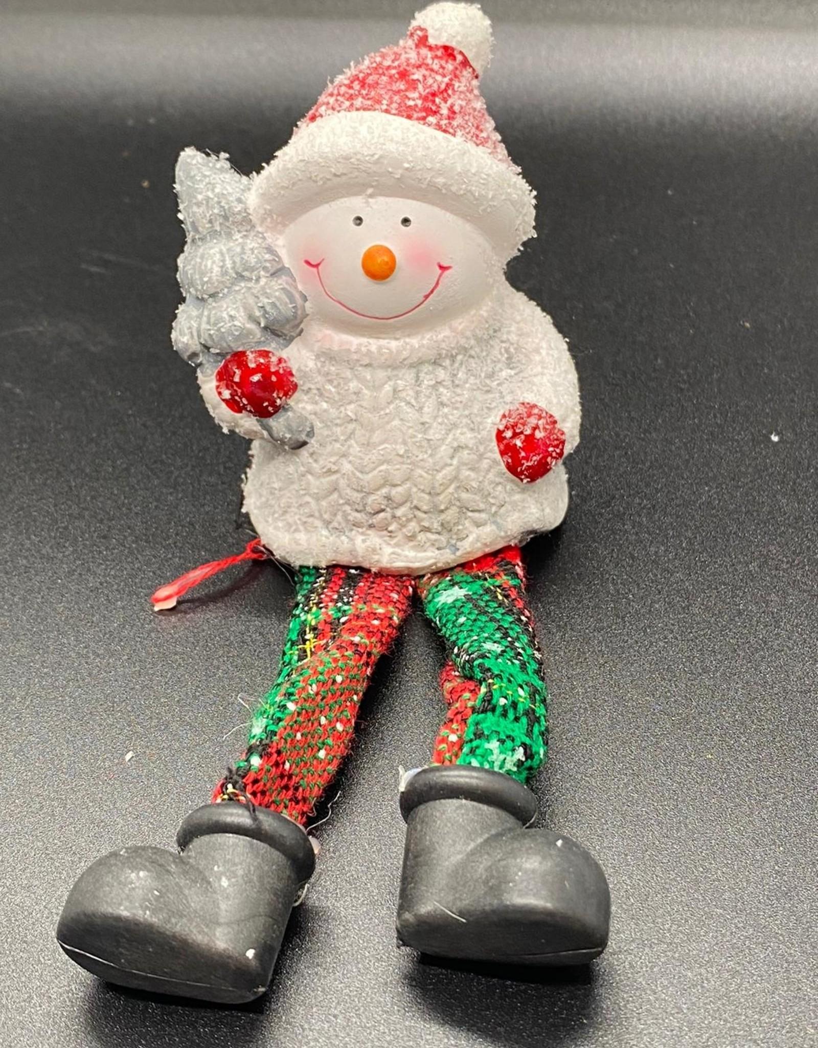 Randzitter met sneeuw