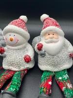 Randzitter  sneeuwpop/ kerstman