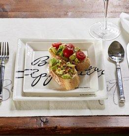 Riviera Maison Buon appetito square plate 18 x 18