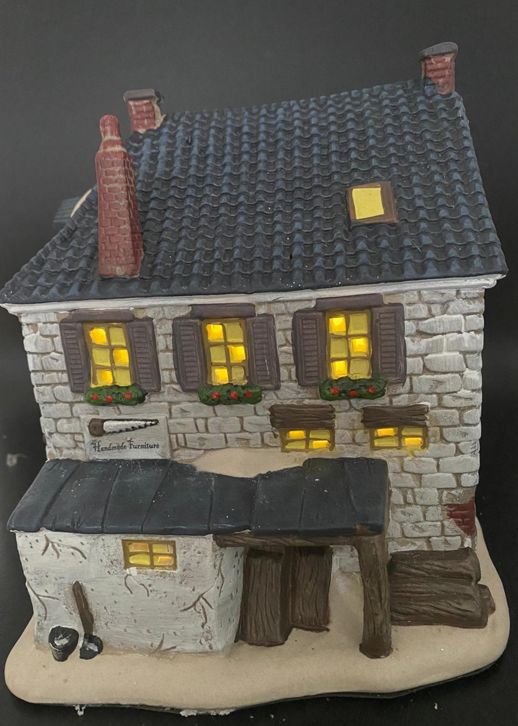 Meubelmakerij kerstdorp 23 cm