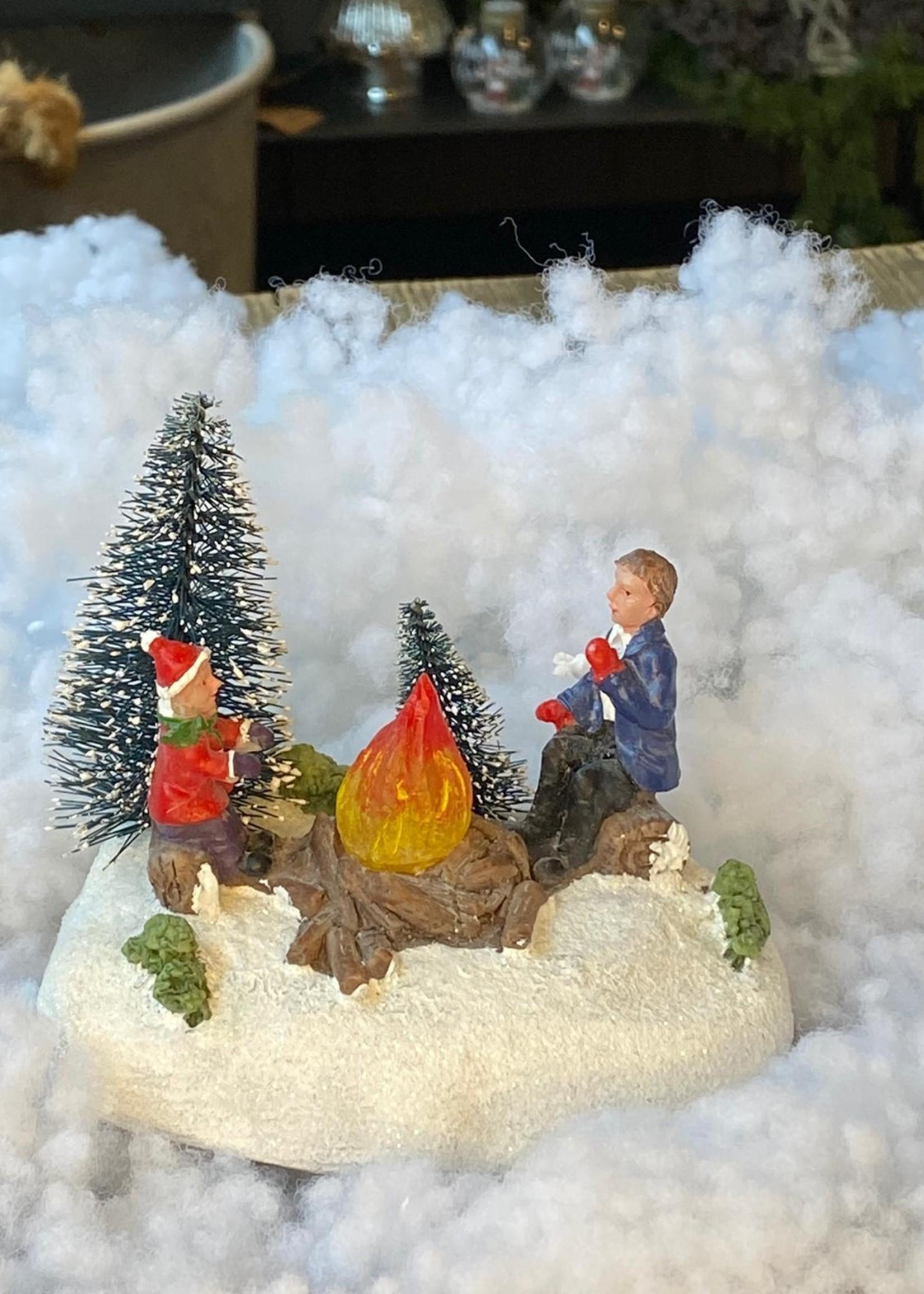 Scene voor kerstdorp