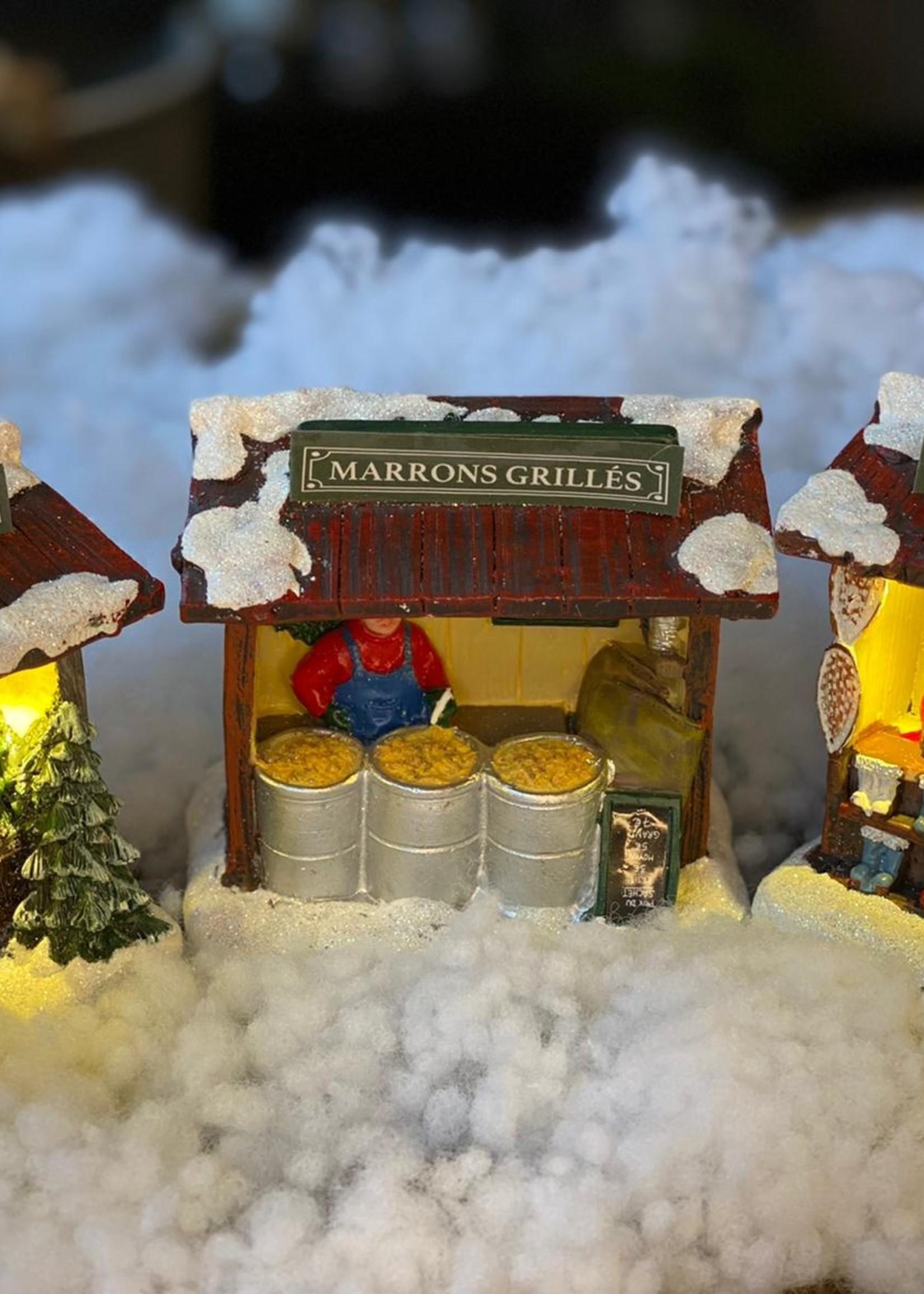 Verkoopstand voor kerstdorp