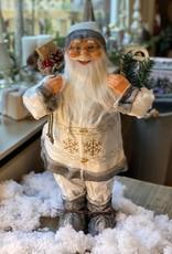 Kerstman wit/grijs 60 cm