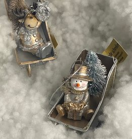Kersthanger, sneeuwpop of Eland in de slee