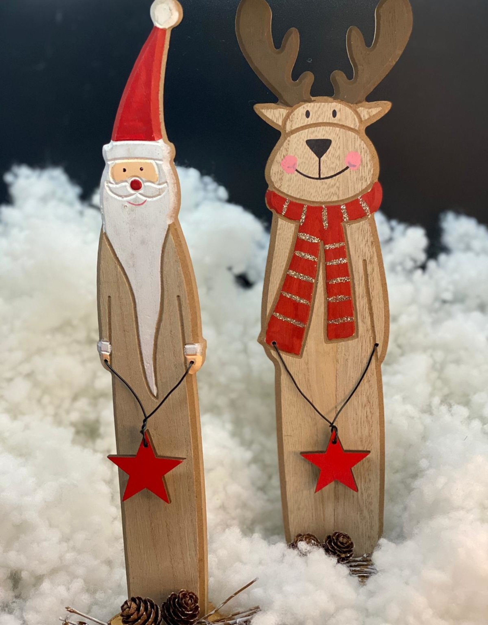 Eland of kerstman van hout