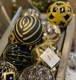 Mix Box Kerstballen zwart/goud