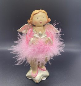 Engel met roze jurk en ster