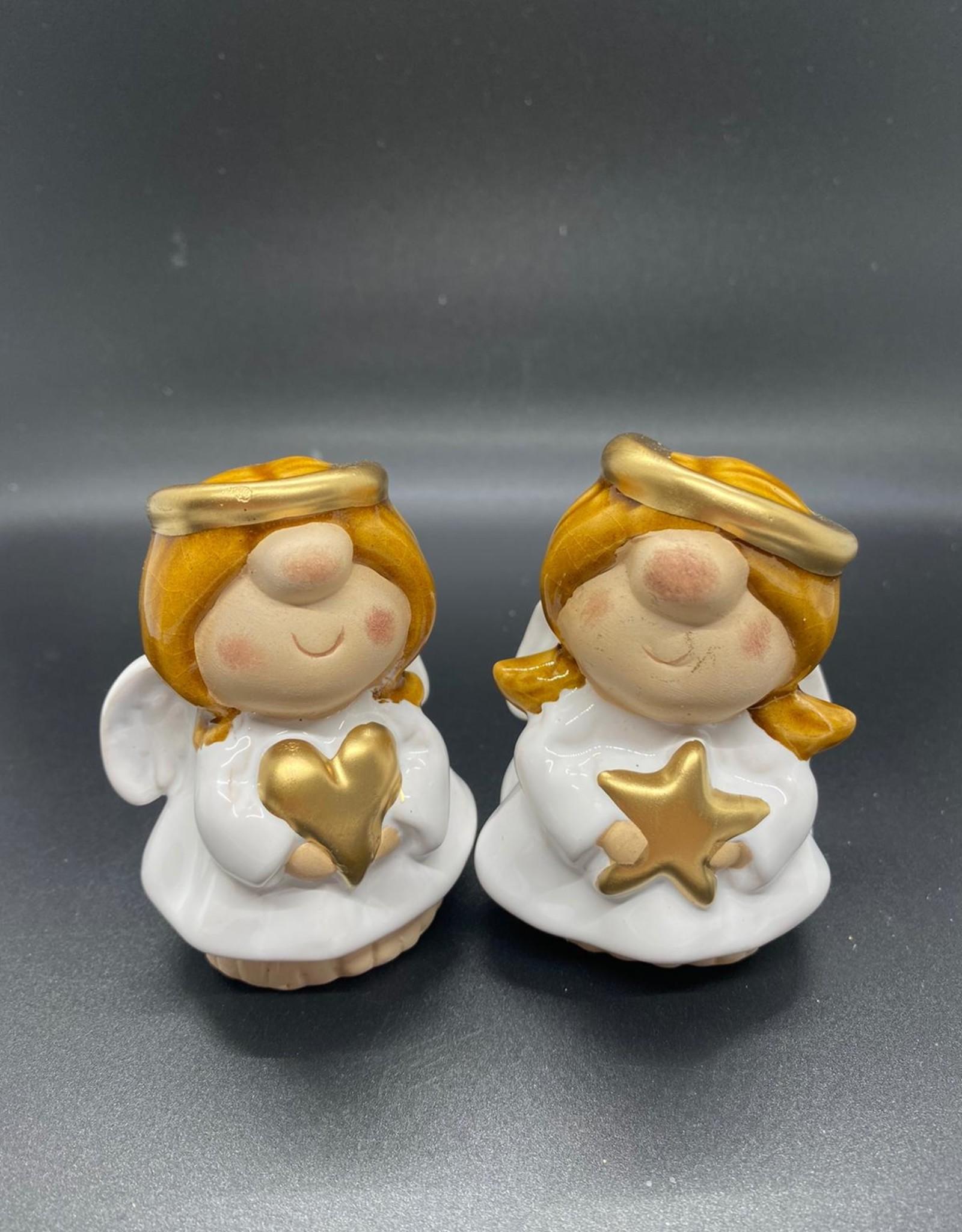 Engel met hart of ster, wit