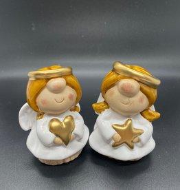 Hof van Sellingen Klein Engeltje met hart of ster, wit