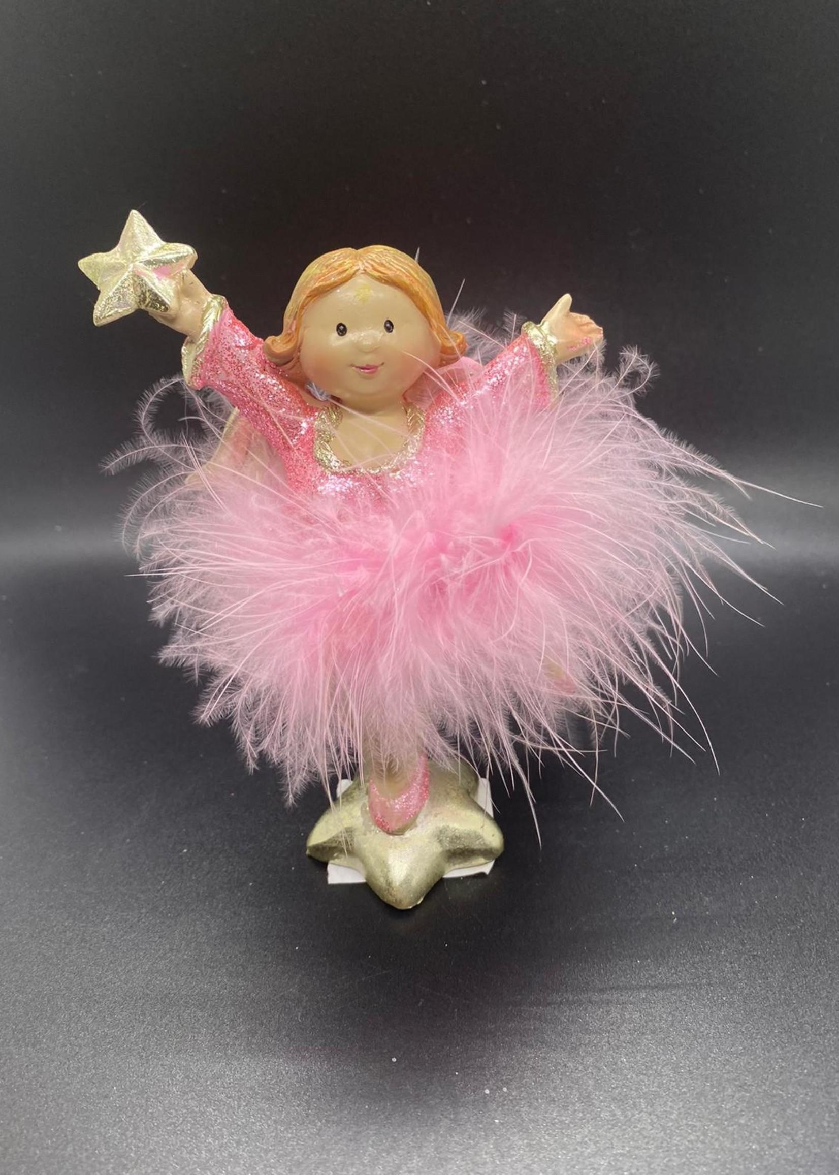 Engel, glitter, roze (1)