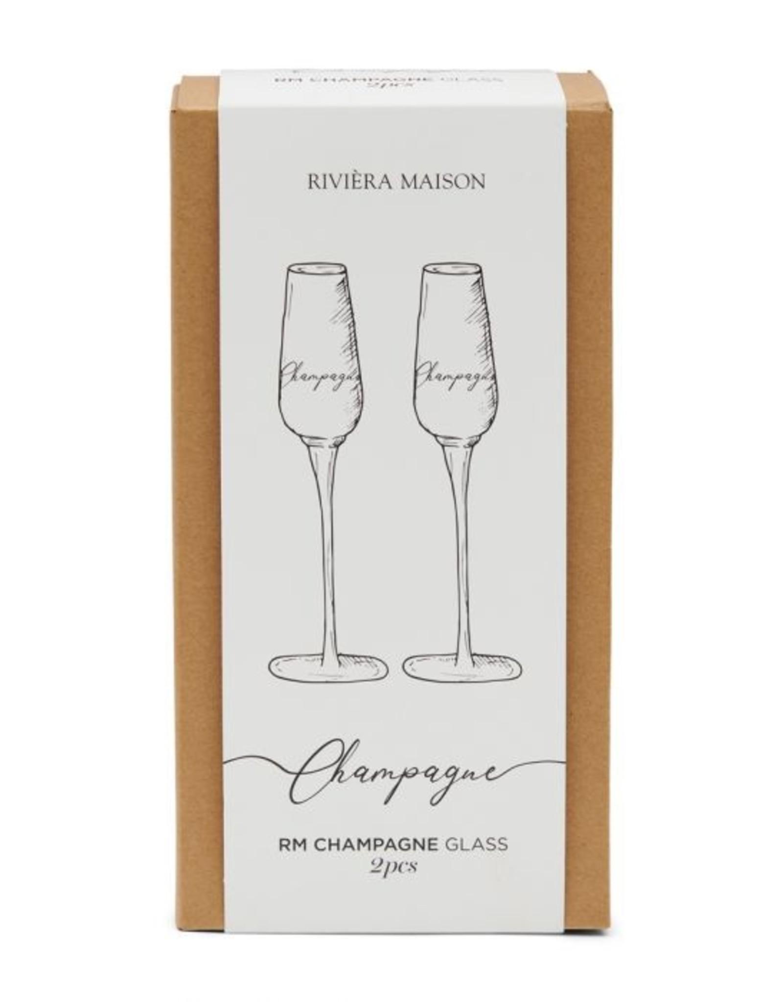 Riviera Maison RM Champagne Glass 2 pcs