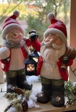 Kerstfiguur rood met lantaarn