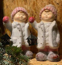 4 Winterkind met lantaarn