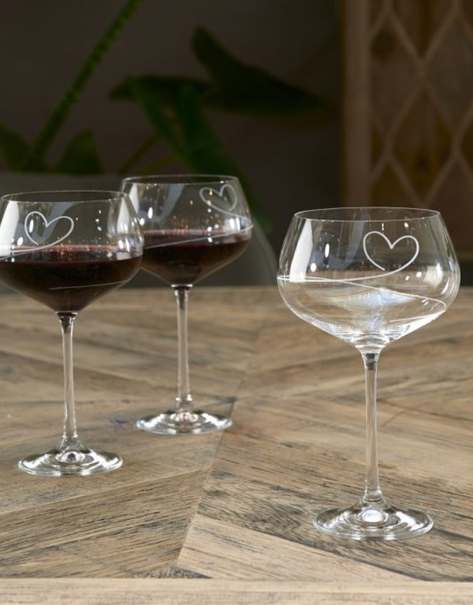 Riviera Maison With Love Red Wine Glass