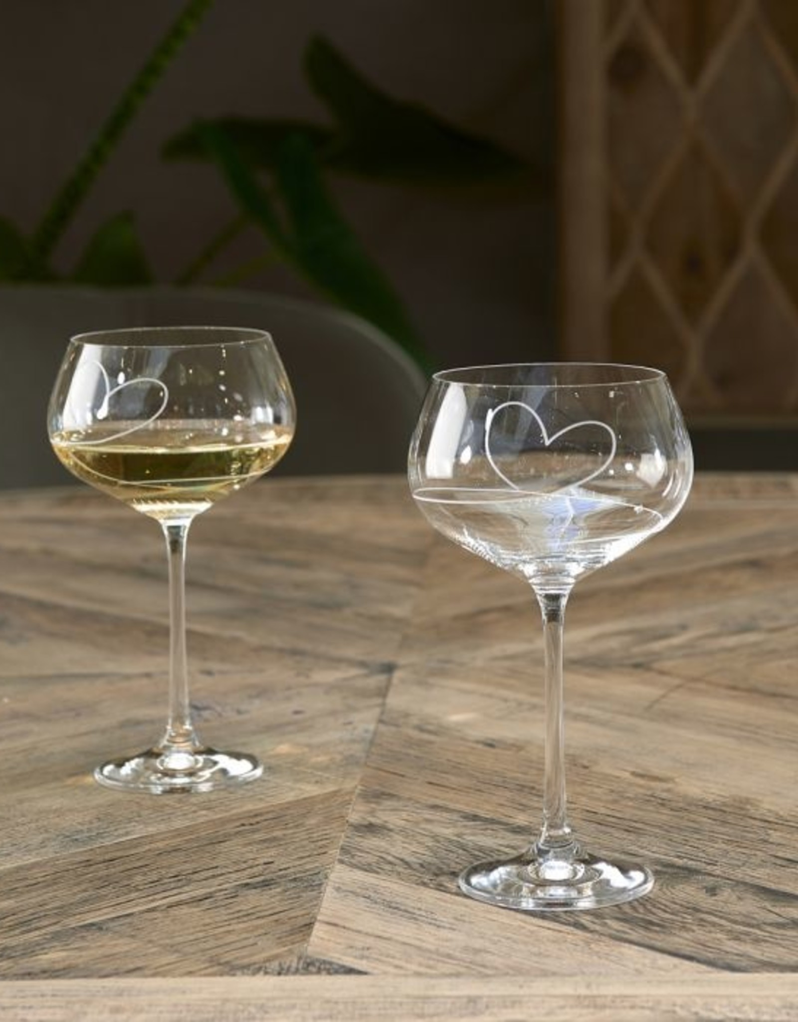 Riviera Maison With Love White Wine Glass