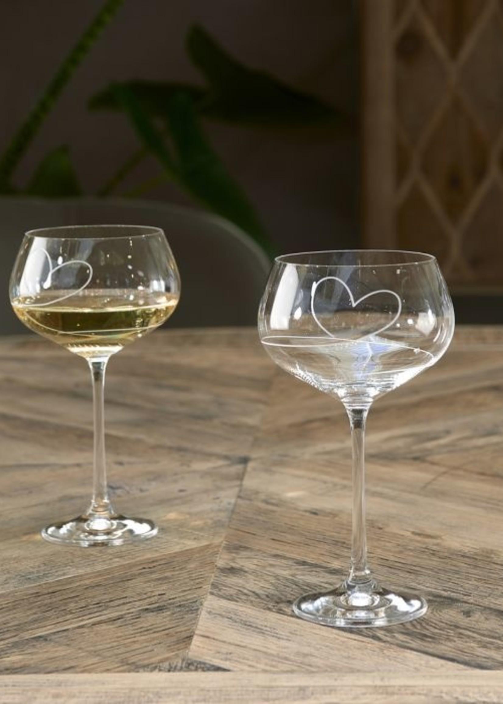 Riviera Maison With Love White Wine Glass