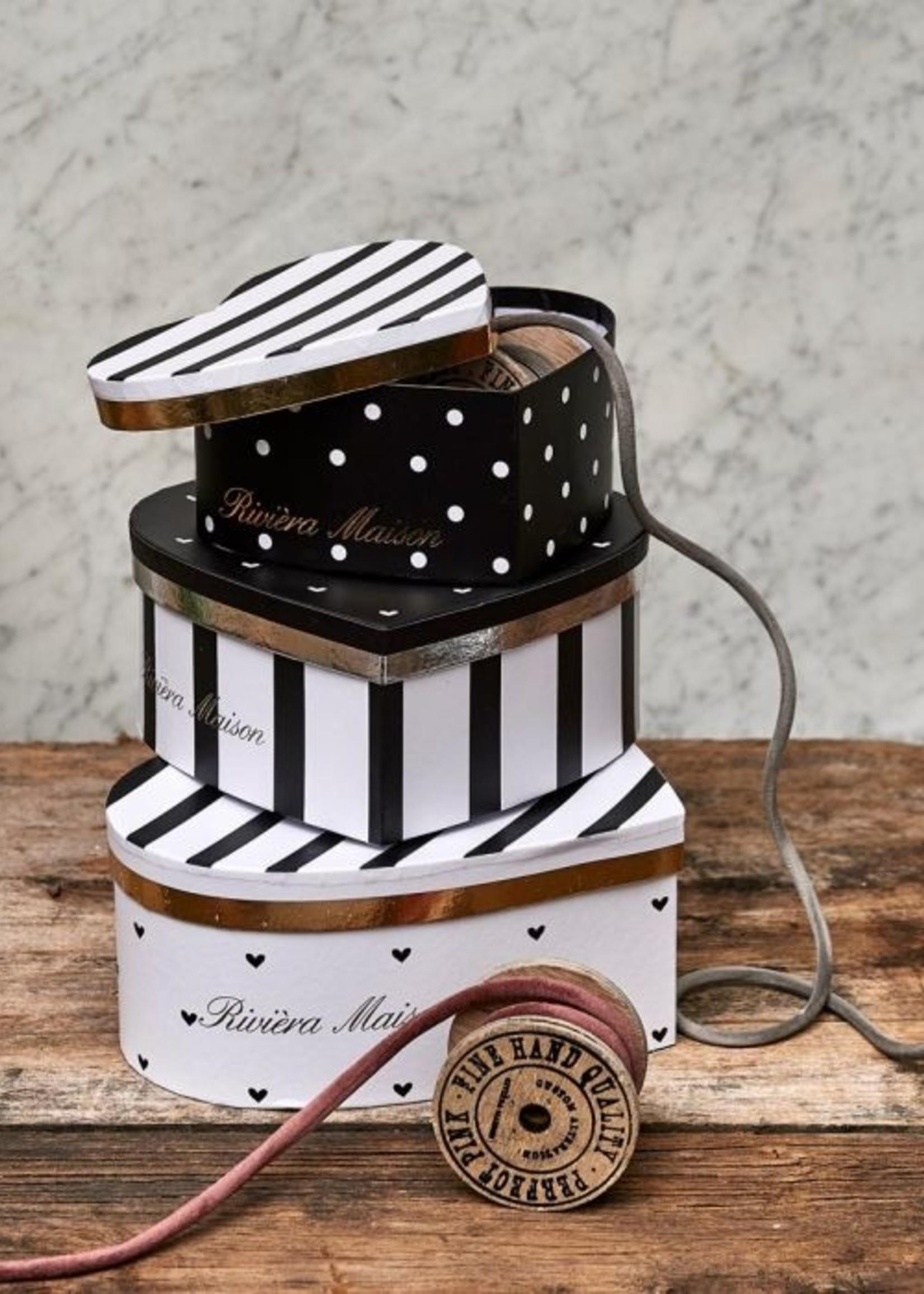 Riviera Maison Heart Boxes S/3
