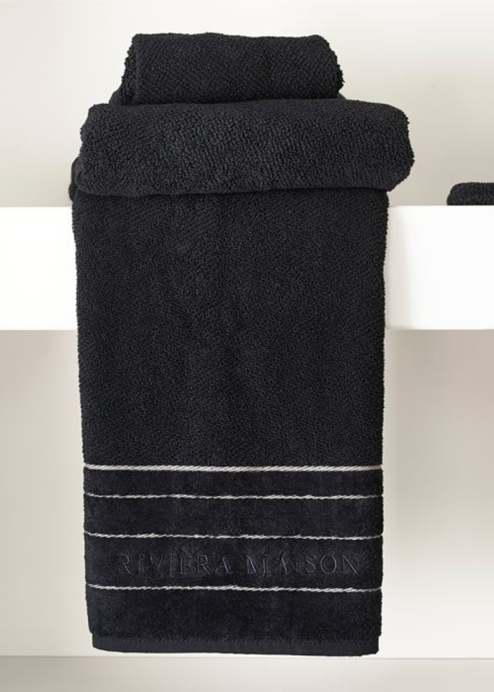 Riviera Maison RM Elegant Towel black 100x50