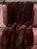 Riviera Maison Faux Fur Throw Burgundy 170x130
