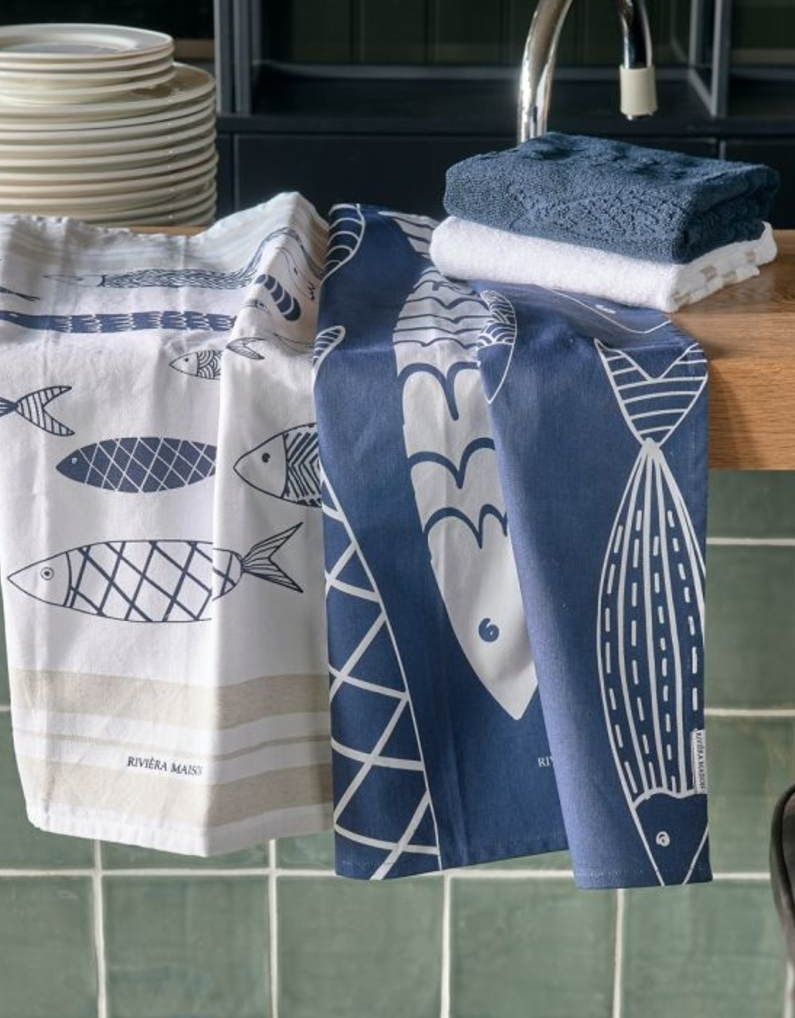 Riviera Maison The Seafood Club Tea Towel 2 pieces
