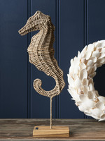 Riviera Maison Rustic Rattan Sea Horse Statue