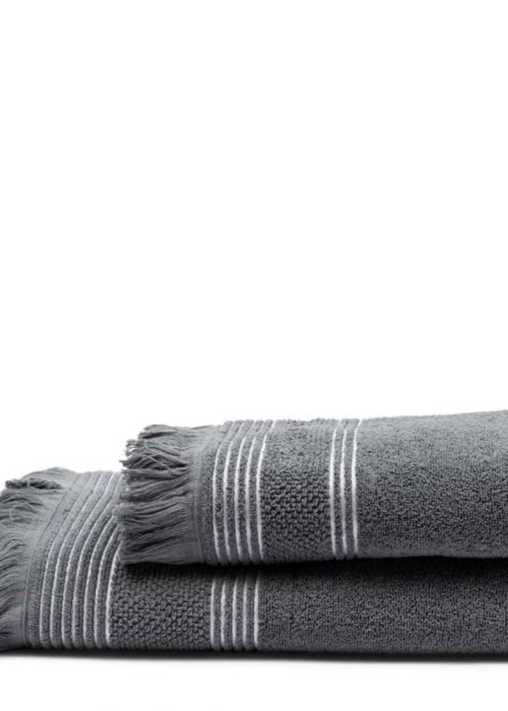 Riviera Maison Serene Towel anthracite 140x70