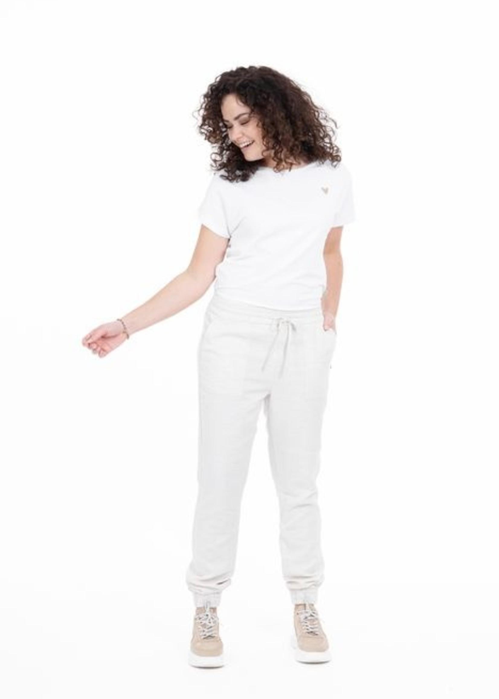Zusss Basic T-shirt Hartje wit XL