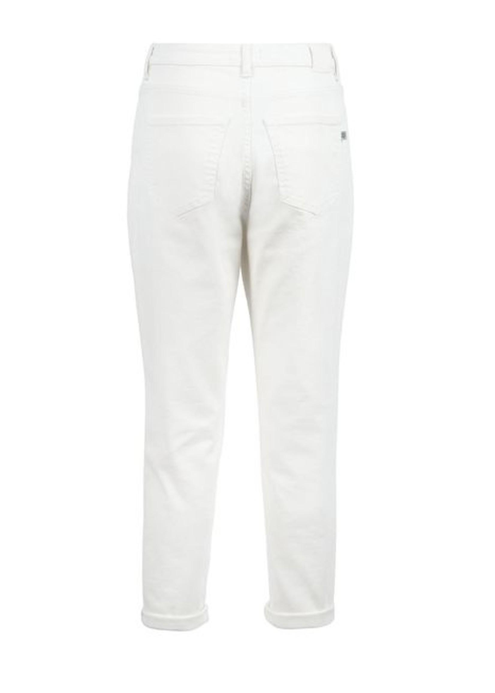 Zusss Trendy Mom Jeans White